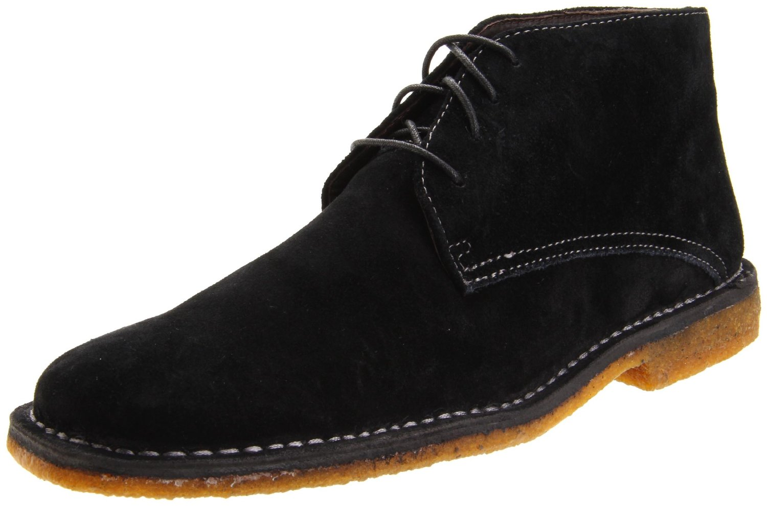 johnston murphy mens runnell lace up boot in black for