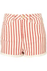 Moto High Waist Stripe Shorts - Lyst