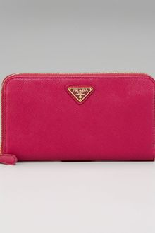 Prada Saffiano Zip-around Wallet - Lyst