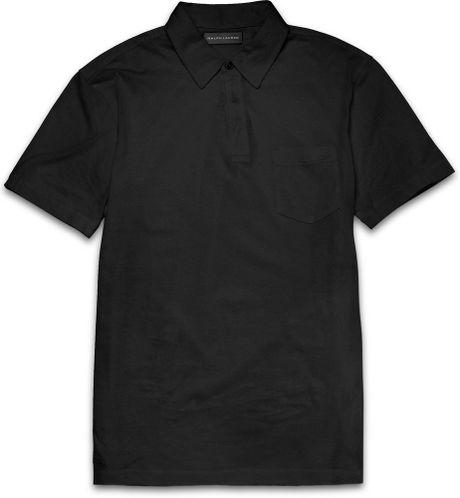 Ralph lauren black label slim fit cotton polo shirt in for Ralph lauren black label polo shirt