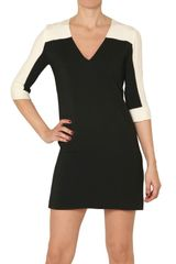 Space V-neck Crepe Cady Dress - Lyst