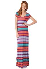 Splendid Beach Towel Stripe Maxi Dress - Lyst