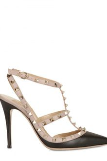 Valentino 100mm Rock Studs Leather Pointy Sandals - Lyst