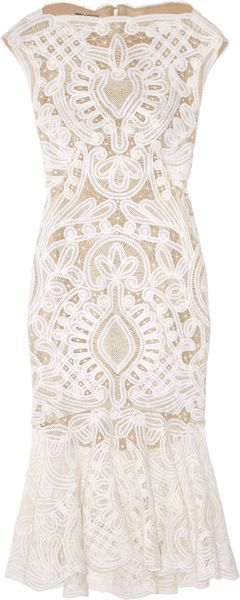 Alexander Mcqueen Crochet-embroidered Silk-organza Dress in Pink (blush) - Lyst