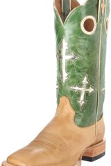 Ariat Mens Ranchero Pull On Boot in Green for Men (sand/electric green) - Lyst