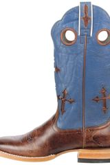 Ariat Mens Ranchero Pull On Boot in Blue for Men (weathered buckskin/blue) - Lyst