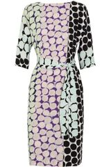 Diane Von Furstenberg Maja Printed Silk Dress - Lyst