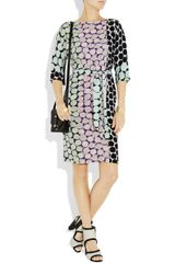 Diane Von Furstenberg Maja Printed Silk Dress in Multicolor (multicolored) - Lyst