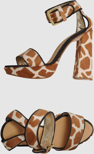 Dsquared2 Platform Sandals in Brown - Lyst