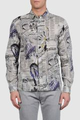 John Galliano Long Sleeve Shirt - Lyst