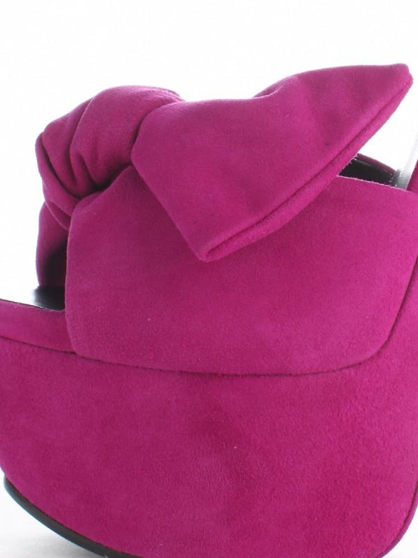 Giuseppe Zanotti Suede Bow Platform Sandals In Purple Magenta Lyst
