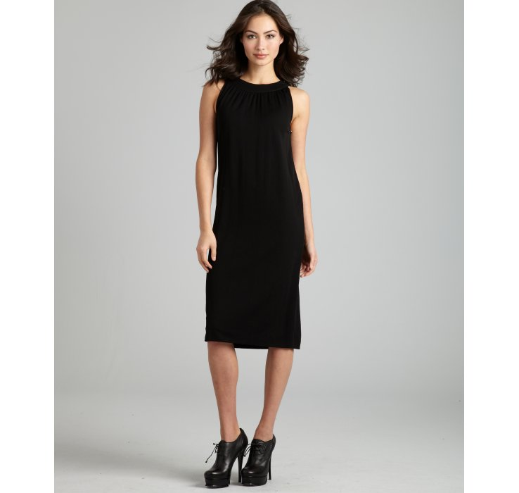 Hermès Black Sleeveless Knee Length Dress in Black  Lyst