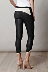 Isabel Marant Kalas Skinny Leather Trousers in Gray (black) - Lyst