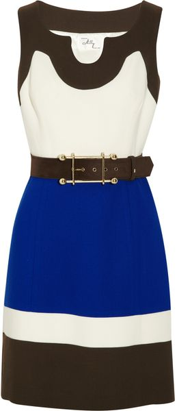 Milly Imara Color-block Crepe Dress - Lyst