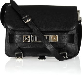 Proenza Schouler Classic Textured-leather Shoulder Bag - Lyst