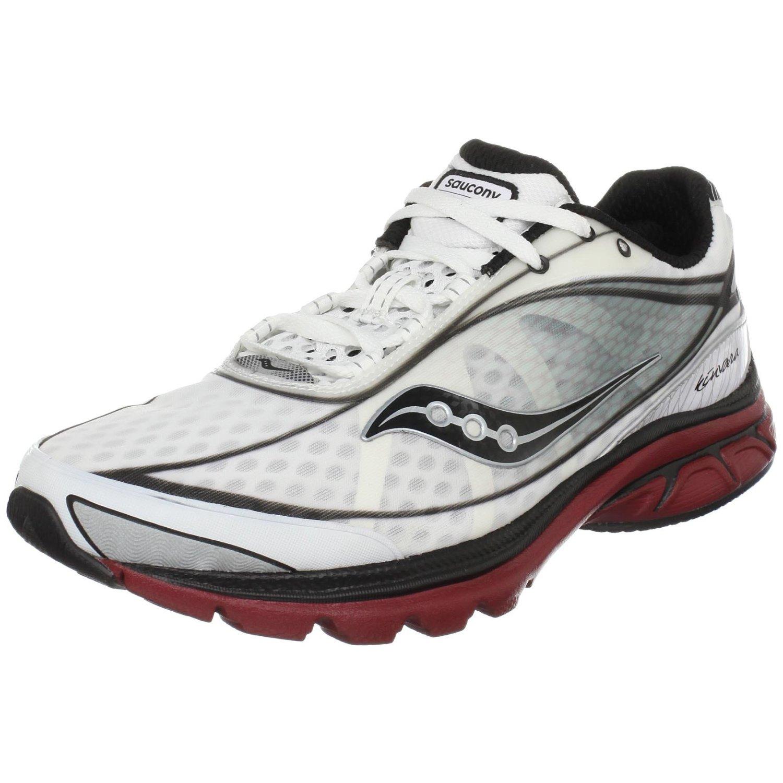 saucony mens progrid kinvara running shoe in white for