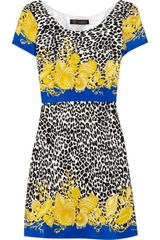 Versace Printed Silk-blend Crepe Dress - Lyst