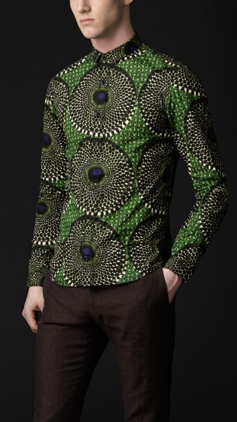 Burberry Prorsum Peacock Print Cotton Shirt - Lyst