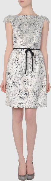 Giambattista Valli Short Dress in White (ivory) - Lyst