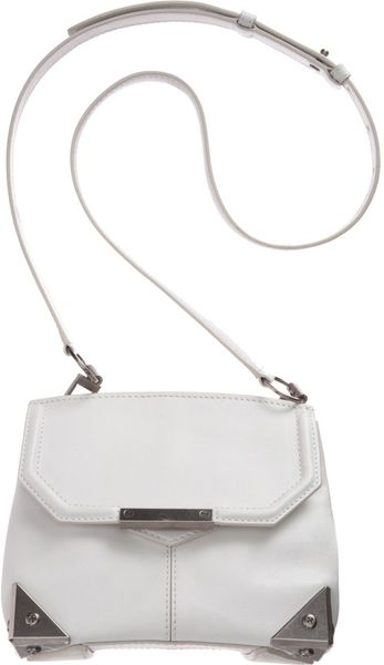 Alexander Wang Marion Mini Sling Bag in White (nickel)