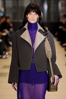 Balenciaga Fall 2012 Brown Short Coat With Wide Sleeves - Lyst
