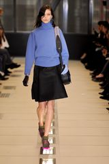 Balenciaga Fall 2012 A-Line Front Fold Knee Length Skirt In Blue  - Lyst