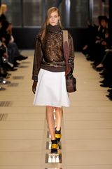 Balenciaga Fall 2012 Sequinned Turtleneck Sweater In Brown And Gold in Brown - Lyst