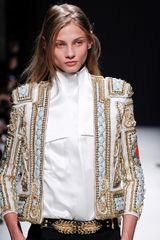 Balmain Fall 2012 White Snap Front Top with Front Pockets - Lyst