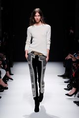Balmain Fall 2012 Embroidered Velvet Skinny Pants In Black And Silver  - Lyst