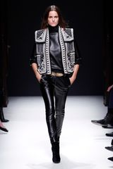 Balmain Fall 2012 Black Leather Skinny Cigarette Pants With Side Pockets  - Lyst