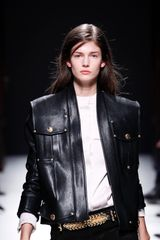 Balmain Fall 2012 Collarless Blouse  - Lyst
