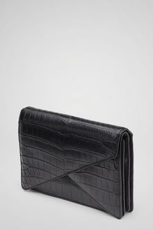 Bottega Veneta Nero Soft Crocodile Bv Clutch - Lyst