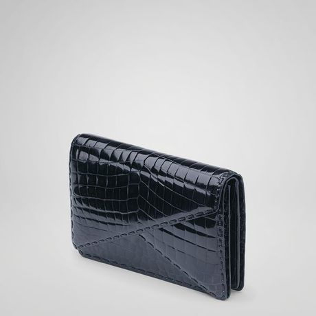 Bottega Veneta Tourmaline Crocodile Fume Bv Clutch in Blue (tourmaline f/tourmal) - Lyst