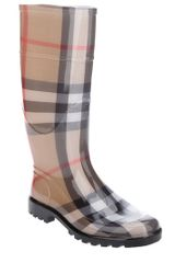 Burberry Checked Rubber Boot - Lyst