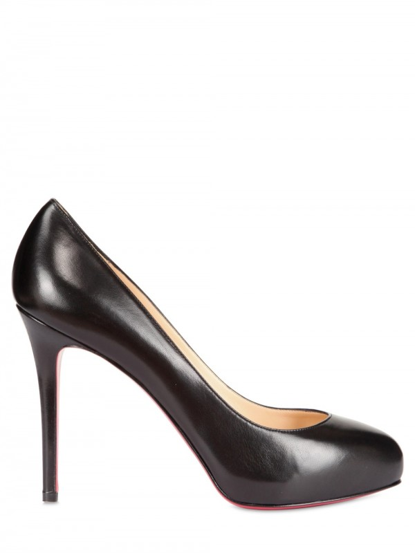 lyst christian louboutin 120mm new declic 120 kid pumps in black rh lyst com