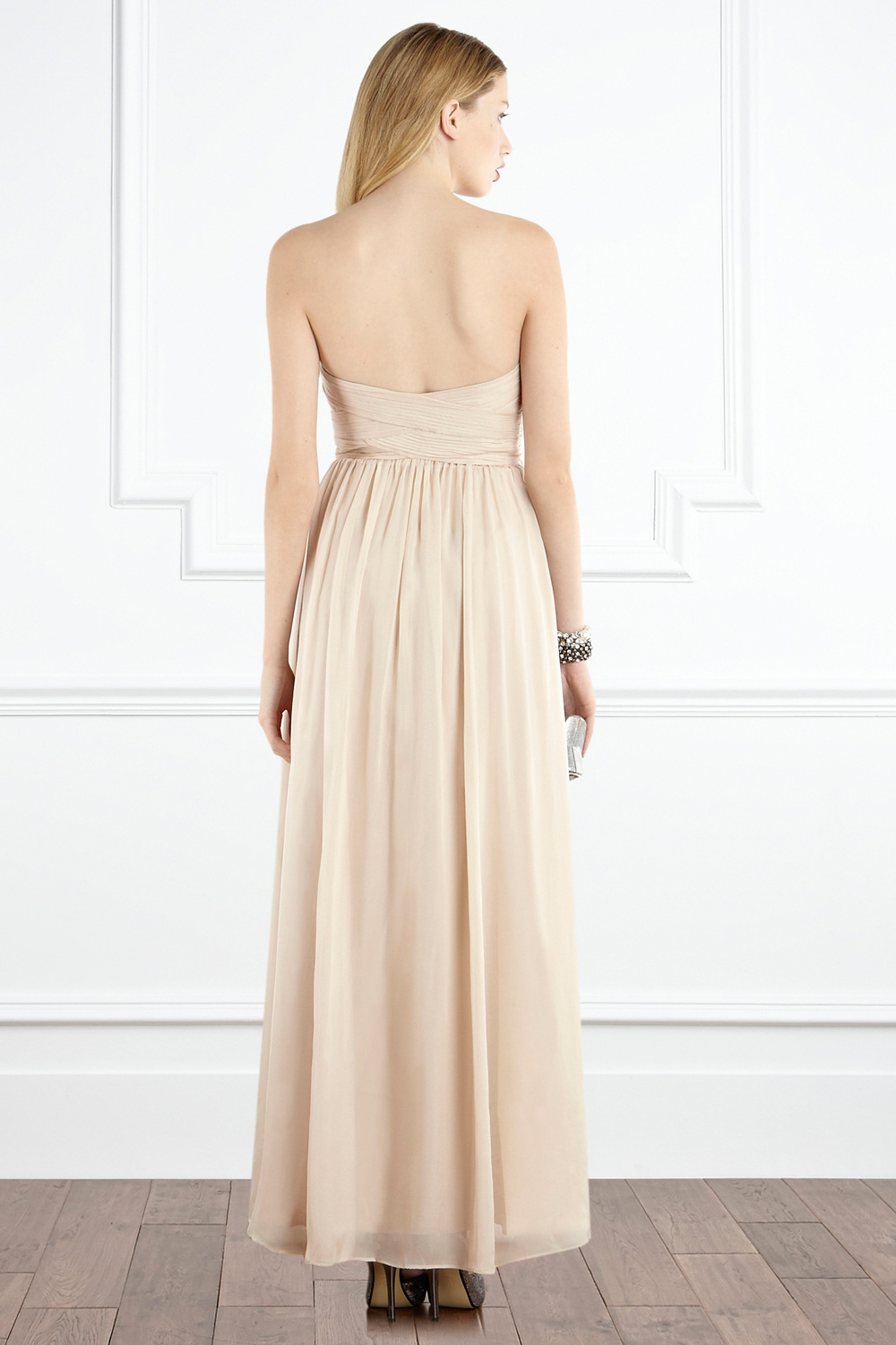 Coast tamara maxi dress champagne