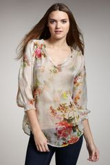 Graham & Spencer Floral-print Blouse - Lyst
