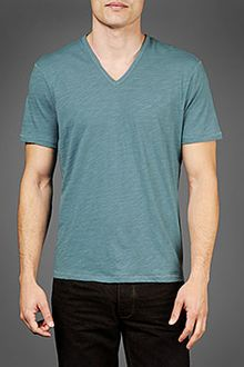 John Varvatos Short Sleeve V-neck Tee - Lyst
