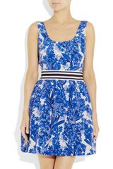 Juicy Couture Printed Silk-crepe Dress - Lyst