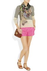 Juicy Couture Woven Cotton and Linenblend Tweed Shorts in Purple (fuchsia) - Lyst