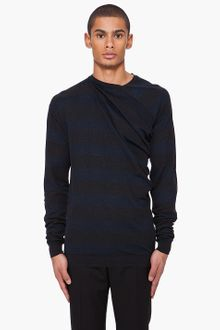 Lanvin Silk Blend Draped Sweater - Lyst