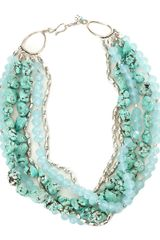 Lucky Brand Multi Stone Strand Necklace - Lyst