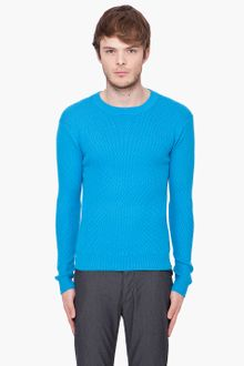 Marc By Marc Jacobs Blue Waffle Knit Sweater - Lyst
