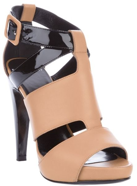 Pierre Hardy Two Tone Sandal in Brown - Lyst