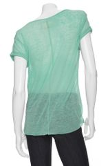 Rag & Bone Single Pocket Tee: Mint in Green - Lyst