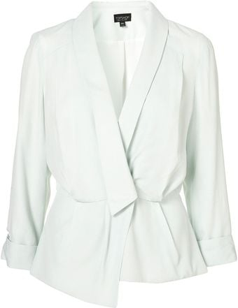 Topshop Crepe Unstructured Jacket - Lyst
