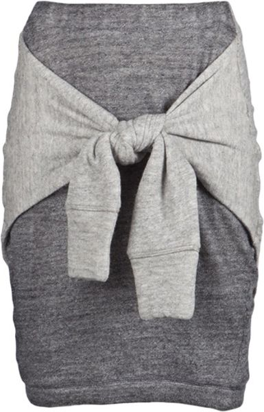 3.1 Phillip Lim Skirt with Tie in Gray (grey)