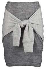 3.1 Phillip Lim Skirt with Tie in Gray (grey) - Lyst