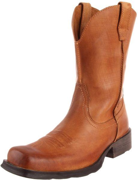 ariat mens rambler boot in brown for fair brown lyst
