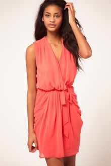 ASOS Collection Asos Dress with Belted Wrap - Lyst